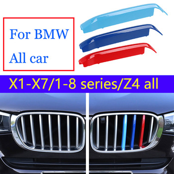 3pcs For BMW E90 F10 F11 E53 E70 E71 E84 F48 F15 F16 E87 E81 F30 F34 G20 E46 E60 E39 G30 M Performance ABS Racing Grille Clip image