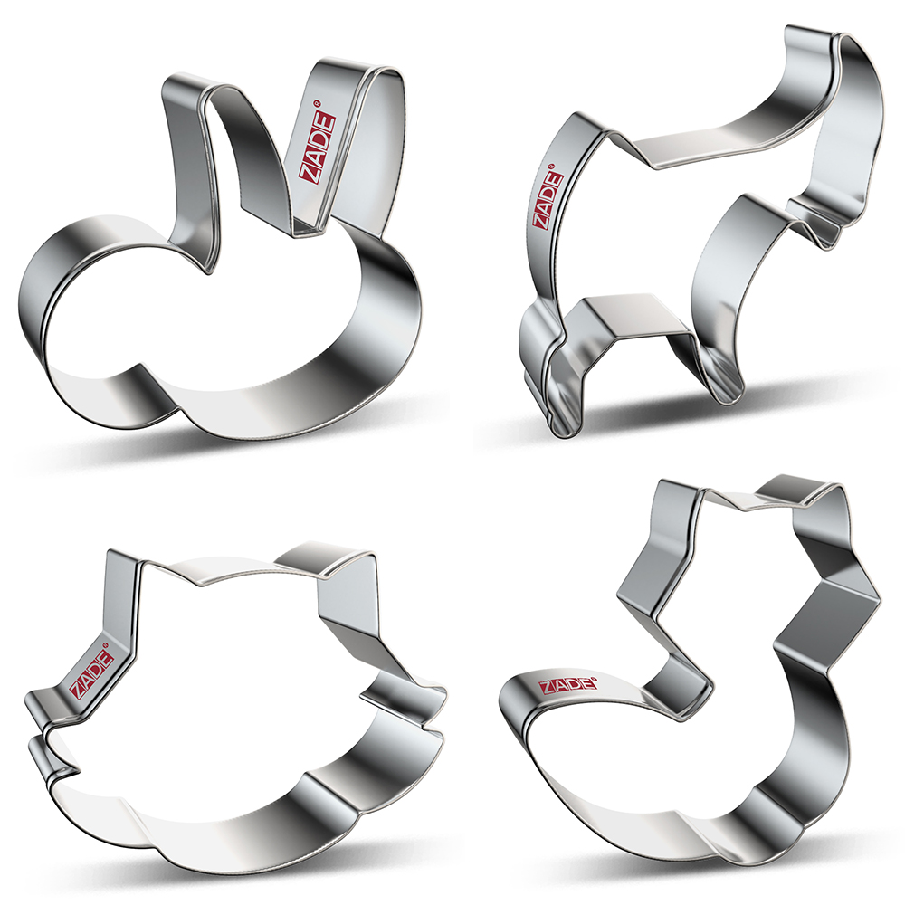 ZADE Fox Raccoon Sloth Goat Cookie Cutters For Animals Biscuits Treats Biscuit And Fondant Cutter - Stainless Steel