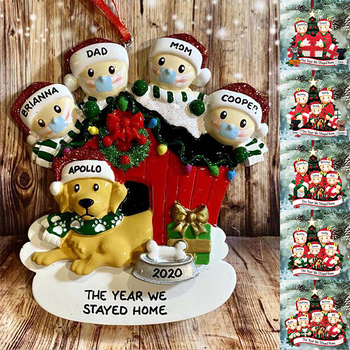 Family DIY Handwritten Name Doll Snowman Christmas Tree Hanging Pendant Holiday Decorations Creative Gifts For Family Members image
