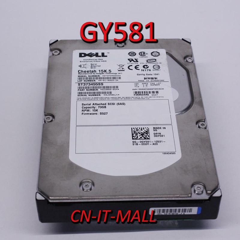 Вытащил GY581 ST373455SS 73 Гб 15000 об/мин 16 Мб кэш SAS 3 ГБ/сек. 3,5