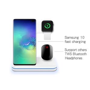 Image 4 - Bezprzewodowa ładowarka do iPhone 11 11 PRO MAX Samsung S10 szybka bezprzewodowa podkładka ładująca 3 w 1 do Huawei Xiaomi 9 Airpods iWatch 4 3 2