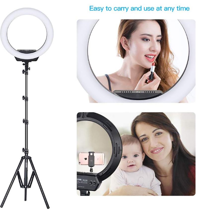 10 Inch USB Photography LED Selfie Ring Light  Dimmable Bi-color 3200-5600k CR95 Camera Phone Ring Lamp  Stand Tripod For Makeup