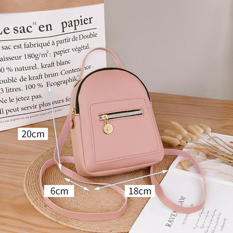 Women Shoulder Crossbody Bags Chain Backpack Wild Rucksack  Mini PU Leather Fashion Bag 18x6x20cm