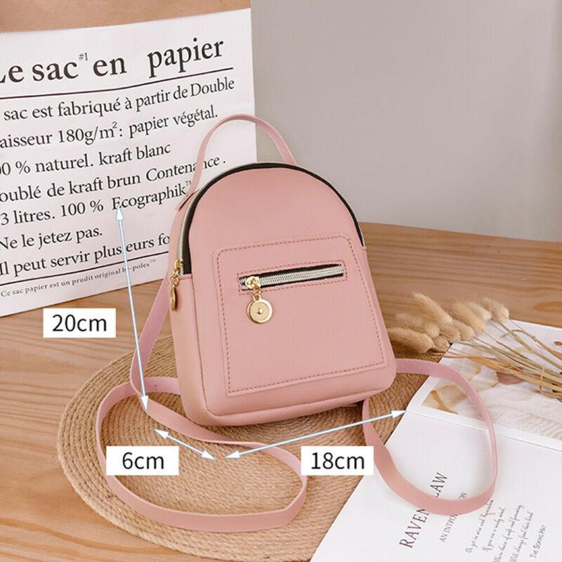 Women Shoulder Crossbody Bags Chain Backpack Wild Rucksack  Mini PU Leather Fashion Bag 18x6x20cm
