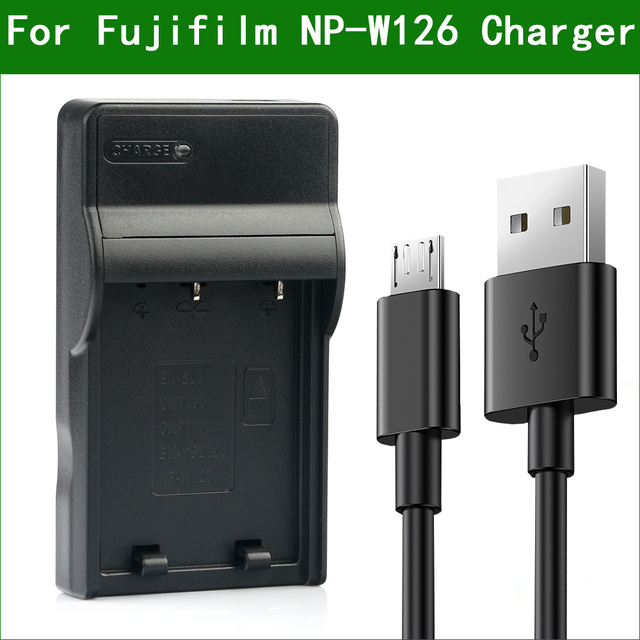 NP W126 NP W126S NP W126 Battery Charger for Fujifilm BC W126 HS30EXR HS33EXR HS35EXR HS50EXR X100F X100V