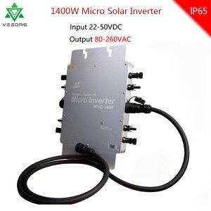 WVC 1400W беспроводной MPPT микро Солнечный на сетке инвертор конвертер 20-50VDC 220VAC 110VAC сетка привязанная чистая синусоида инвертор