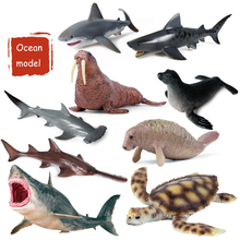 Large simulation underwater world great white shark giant tooth marine life model childrens toys