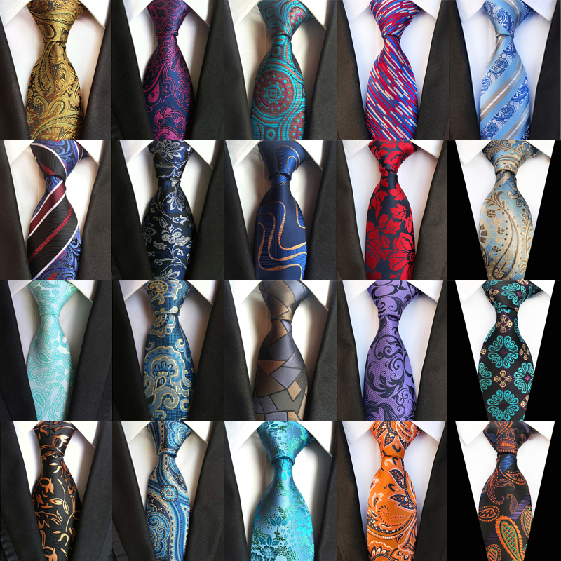USA Pink Paisley Mens Tie Necktie Silk Jacquard Woven Set Party Wedding Luxury