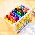 Desenho das crianças 12/24/36/48/60 cor diy pintura graffiti crayon seguro não-tóxico lavável girando crayon