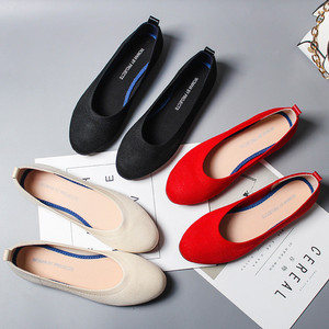 Image 1 - 여성 플랫 슈즈 Zapatos De Mujer 가을 2019 라운드 플랫 슈즈 로퍼 발레리나 Femme Tenis Feminino 캐주얼 블랙 레이디스