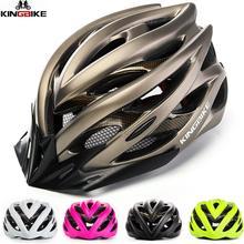 KINGBIKE kask rowerowy kask rowerowy Ultralight Mountain MTB CE bezpieczeństwo Bontrager PVC + EPS rowery kask światło rowerowe kaski tanie tanio (Dorośli) mężczyzn L-629B 0 24kg 16-20 Light Helmet bike helmet Bicycle helmet Men Women Bike Helmet PVC+EPS Mountain Road mtb helmet