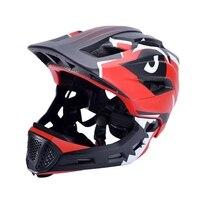 Elos crianças capacete de bicicleta 2 em 1 completo coberto ciclismo helment ultraleve ajustável esportes capacete de proteção mtb corrida crianças capacetes|Capacete da bicicleta| |  -
