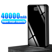Power Bank 40000mah External Battery 18650 PoverBank 2 USB LED Powerbank Type-c Portable Mobile phone Charger for iPhone Xiaomi