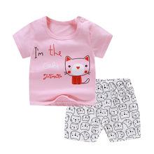 Zestawy ubrań dla niemowląt letnie ubrania dla dzieci dla chłopców i dziewcząt bawełna nadruk kreskówkowy zestawy dla niemowląt 0-4Y dla dzieci ubrania dla dzieci 2 sztuk tanie tanio WUDIMIQI COTTON W wieku 0-6m 7-12m CN (pochodzenie) Zima Dziecko dla obu płci Na co dzień Z okrągłym kołnierzykiem