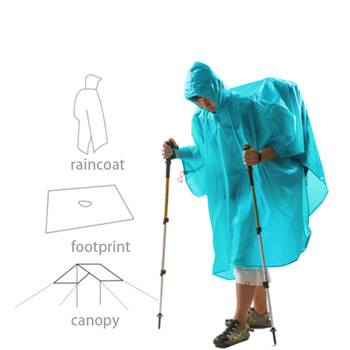 3F UL GEAR Ultralight 15D Poncho Raincoat Outdoor Mini Tarp  1