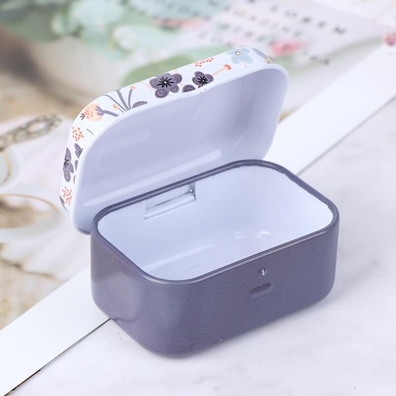 1 шт Мини жестяная металлическая коробка с крышкой коробки упаковки