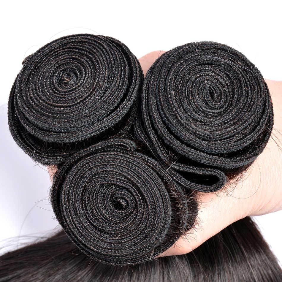 Прямые волосы пучки бразильских локонов пучки человеческих волос Связки tissage bresilien Волосы remy ткань 3 or4 шт волосы для наращивания