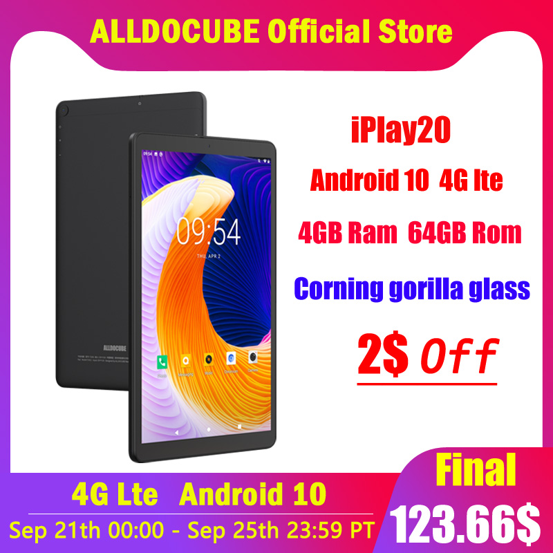 Alldocube 4G Tablet Phone-Call 1920x1200 Android Octa-Core 6000 Mah 10-Iplay20 New GPS