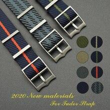 Pojedyncza przepustka Nato styl specjalny materiał bransoletka na rękę pasek zegarka 20 MM 22MM Nylon Nato Watchband dla Tudor pasek zegarka wymienić