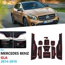 Alfombrilla de goma antideslizante para ranura de puerta de Mercedes Benz, pegatina para modelos GLA X156, GLA180, GLA200, GLA220, GLA250, GLA45, 200, 220, 250, 200d, 220d