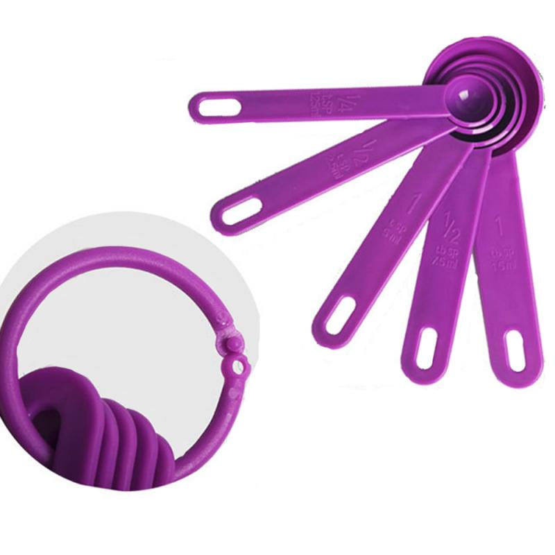 5pcs Creative Baking Cooking Kitchen Tools Measuring Spoon Silicone Measuring Ladle With Scale Kitchen Supplies