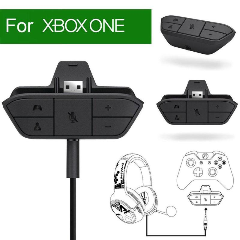 3.5mm Stereo Audio Headset Adapter Converter for XBOX ONE Game Console Controller Adapter for Gaming Headset w/ 3.5MM Audio Jack USB Receiver Adapter     - title=