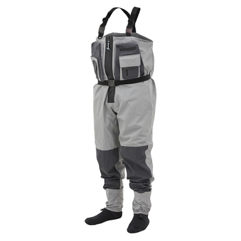 Fishmen Chest Wader Waterproof Dry Pants Breathable Zip-front Stockingfoot Waders With Overlayed Pockets for Hunting Fishing high jump camouflage fishing waders 0 7mm pvc breathable waterproof chest fishing wader unisex dichotomanthes end fishing waders