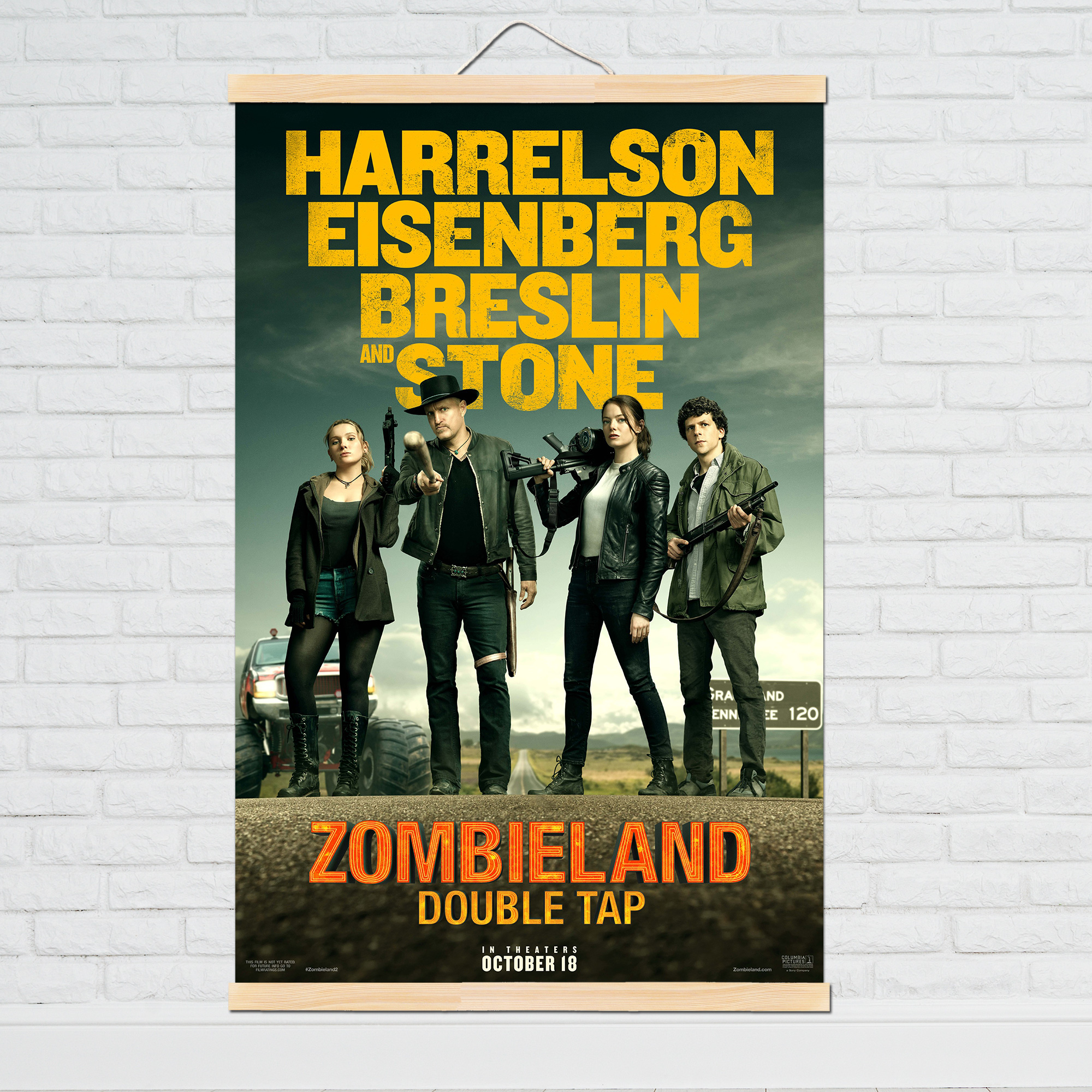 2019-new-movie-silk-poster-zombieland-2-retro-art-prints-vintage-wall-decor-pictures-quentin-font-b-tarantino-b-font-posters-canvaw-painting