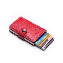 High-Grade Neutral Card Package Crocodile Snake Skin Carbon Fiber  Business Pocket Credit Clip
