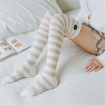 Sexy Socks Striped Long Socks Women Long Stockings Warm Thigh High Socks For Ladies Girls New Fashion Striped Knee Socks Women striped trim socks