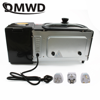 DMWD Electric 3 in 1 Breakfast Machine Multifunction Mini Drip American Coffee Maker Pizza Oven Egg Omelette Frying Pan Toaster 2