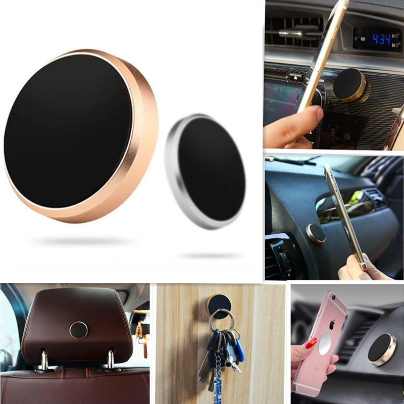 Magnetic Mobile Phone Holder Car Dashboard Mobile Bracket Cell Phone Mount Holder Stand Magnet Wall Sticker For IPhone Samsung