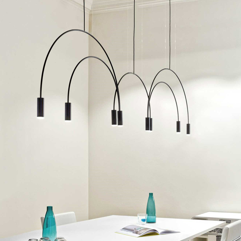 Nordic Gold/Zwart LED Hanglampen slaapkamer eetkamer keuken hanglampen for a eetkamer E27 LED Lamp Edison Gloeilampen