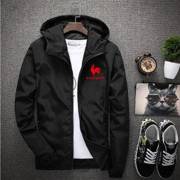 Mens jacket sun protection clothing thin section long-sleeved baseball windbreaker zipper male clip overcome 7XL