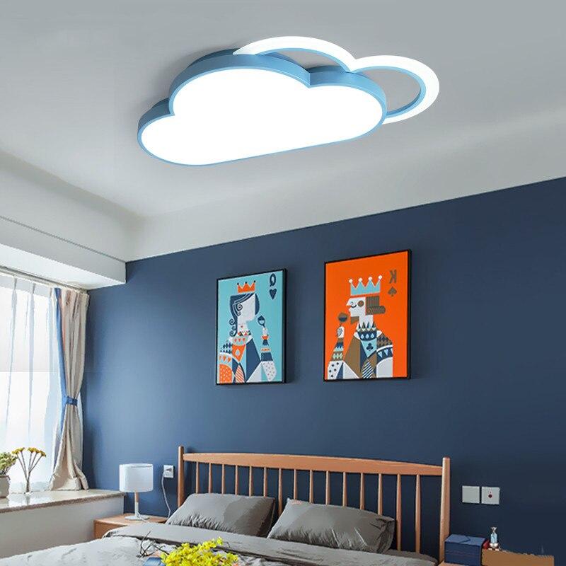 Современный металлический акриловый светодиодный светильник для комнаты, потолочный светильник с регулируемой яркостью для мальчиков