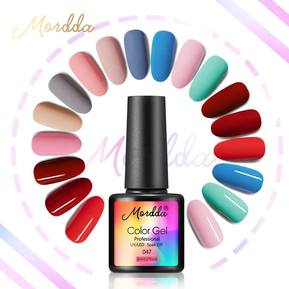 MORDDA jel vernik UV jel oje tatlı renk tırnak cilası yarı kalıcı kapalı ıslatın hibrid jel boyama gerekir mat pardösü