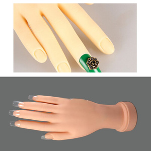 Image 2 - Adjustable Flex Soft Nail Art Model Hand for Training and Display Painting Practice Acrylic Gel Tip Design Tool