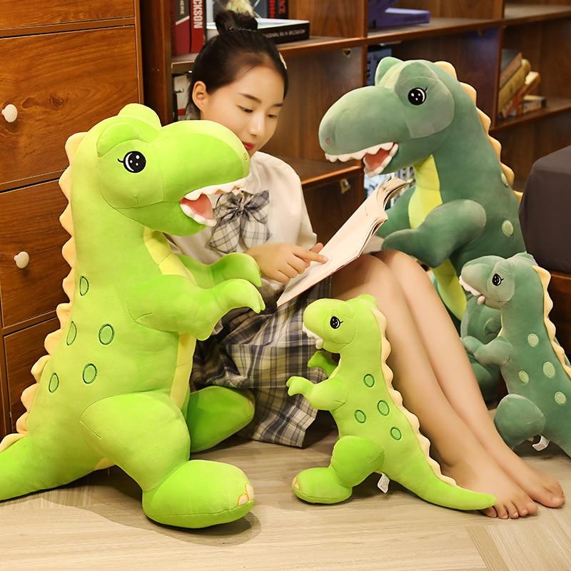 New 45-90cm Big Cartoon Dinosaur Plush Toys Ultra Soft Animal Dragon Pillow Stuffed Tyrannosaurus Rex Dolls Kids Girls Gifts