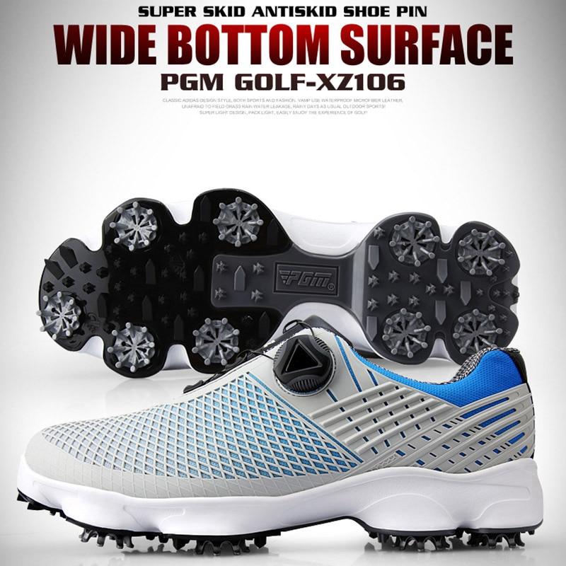 Novos homens sapatos de golfe à prova