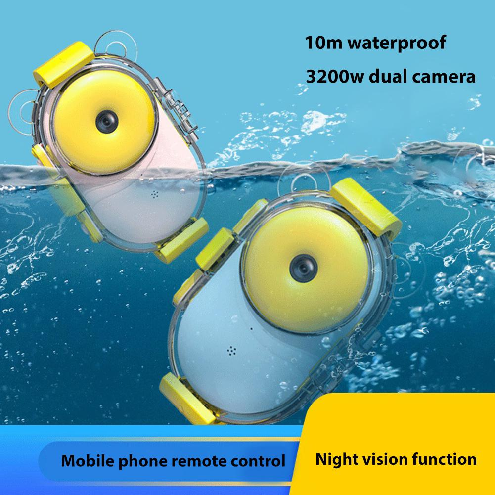 Kuulee Children Camera Mini DSLR Digital Camera Smile Shutter Waterproof Optical Anti-shake Kids Learning Photography