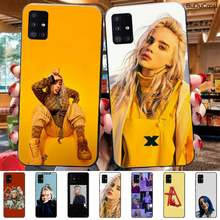 Slok Billie Eilish Khalid Lovely Black Soft Shell Phone Case Capa For Samsung Galaxy A70 A50 A30 A10(China)
