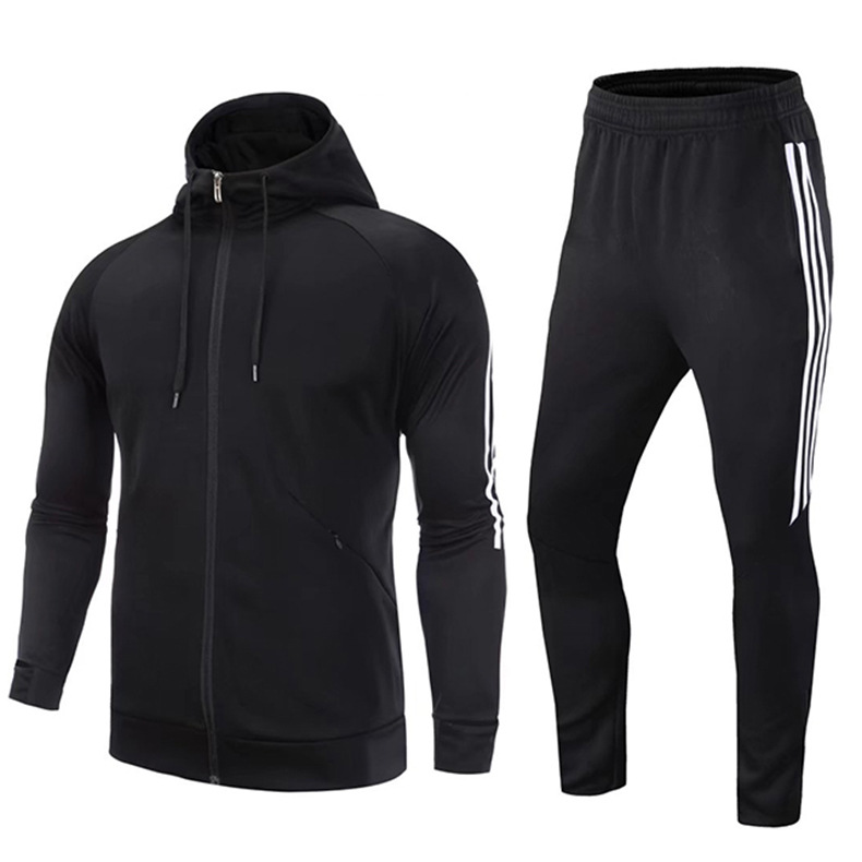 2019 Autumn And Winter Hooded Coat Men And Women Loose-Fit Running Training Workout Clothes Football Leisure Suit Skinny Pants