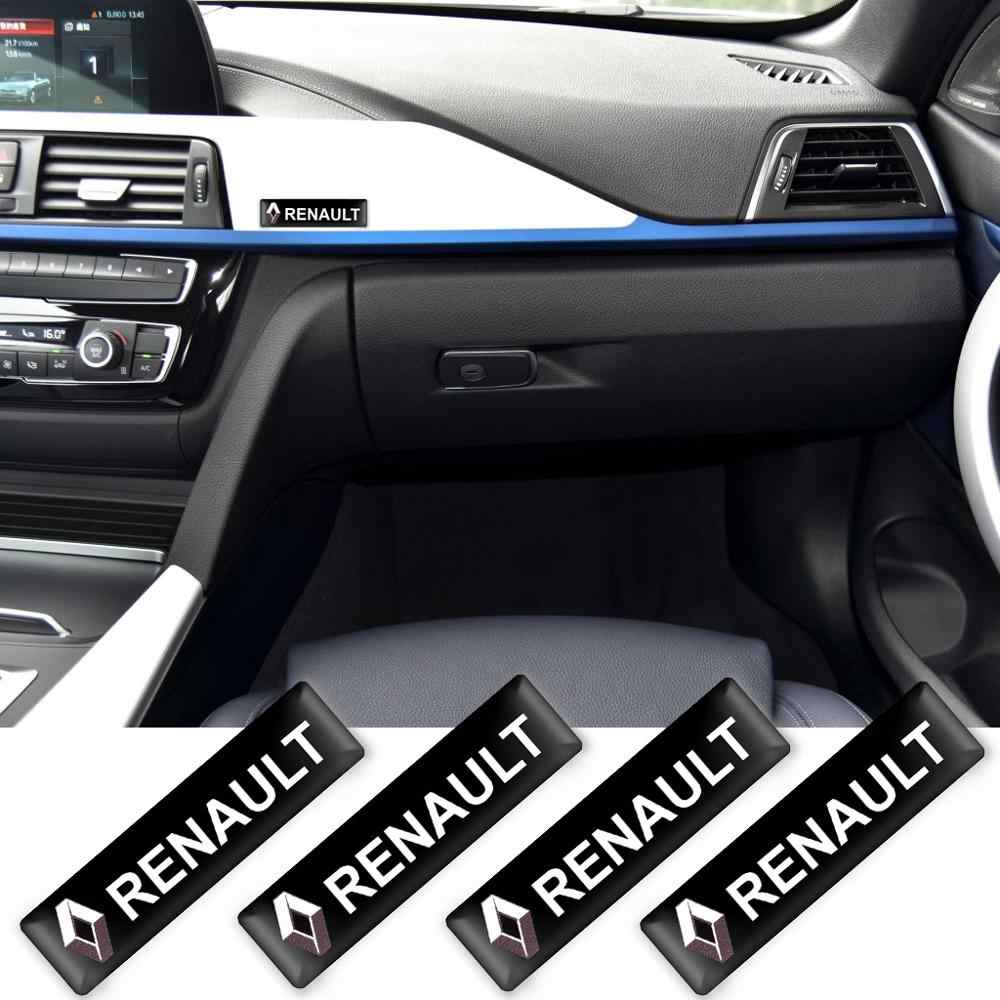 2/4/10Pcs Auto Styling 3D Decoraties Stickers Decals Embleem Badge Voor Renault Megane Latitude Satis Captur frendzy Accessoires
