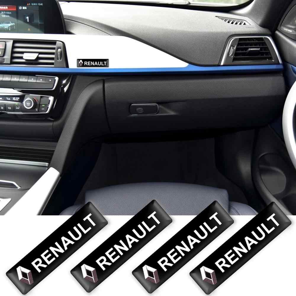 2/4/10 個の車のスタイリング 3D 装飾ステッカーデカールバッジルノー緯度サティス captur FRENDZY アクセサリー