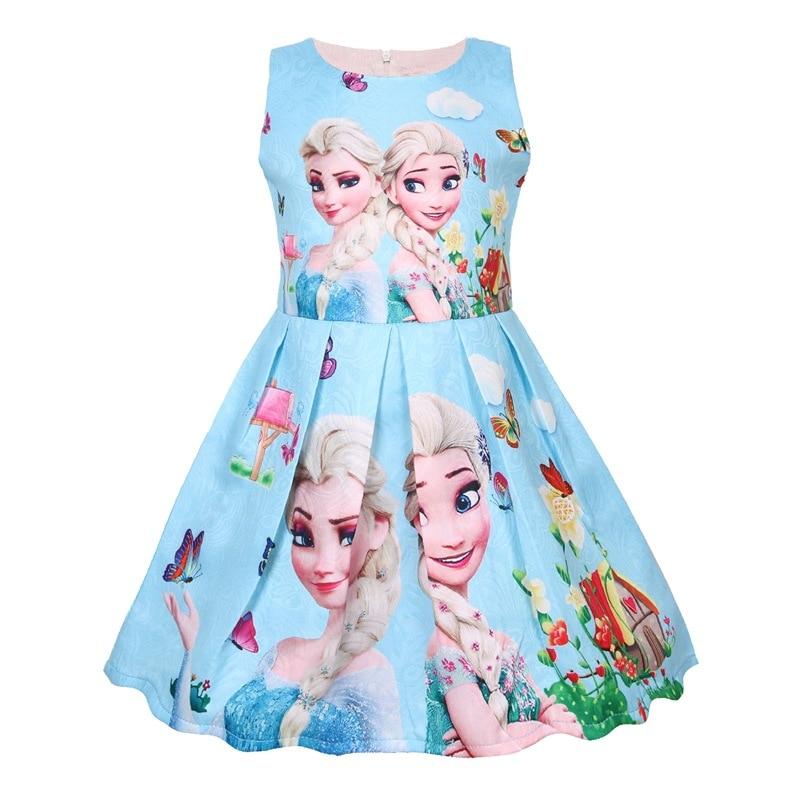 Vestido de niñas, vestidos de princesa reina de la nieve, vestidos de Elsa Anna para niñas, regalo de cumpleaños, traje de princesa, vestido de niños, ropa Vestido de tutú para niñas y niños, Vestido de princesa para niñas, Vestido de fiesta de cumpleaños, ropa informal de verano para niñas, ropa 8T