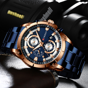 Image 4 - CURRENออกแบบนาฬิกาผู้ชายLuxury Quartzนาฬิกาข้อมือสแตนเลสChronographกีฬานาฬิกาชายนาฬิกาRelojes