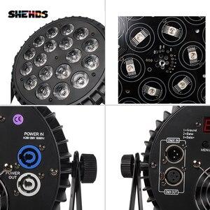 Image 5 - Projecteur de lumière en alliage daluminium pour DJ et scènes de spectacle, appareil déclairage LED, 18x18 W, DMX 512, 4 pièces
