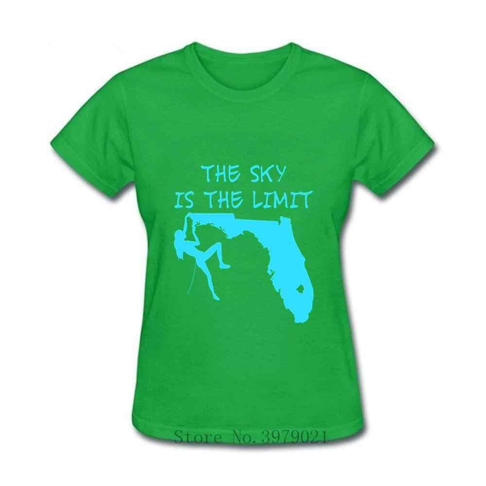 ปีนเขา TShirt Sky จำกัด Mountain กลางแจ้งแรงจูงใจหญิง wonder tshirt ผู้หญิง Rock climber เสื้อยืดหญิง tshirt