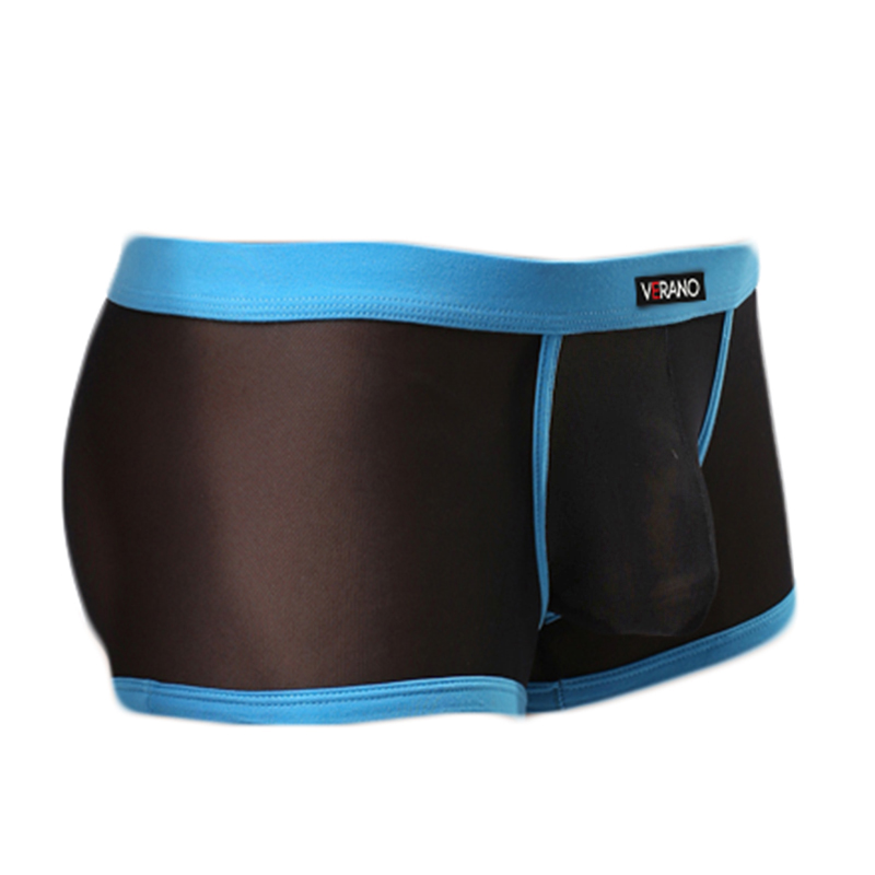 Casual Mesh Men Boxer Ultra-thin See Though Mens Trunks Sexy Mesh Men Shorts Underwear Tranparent Underwear M31-1
