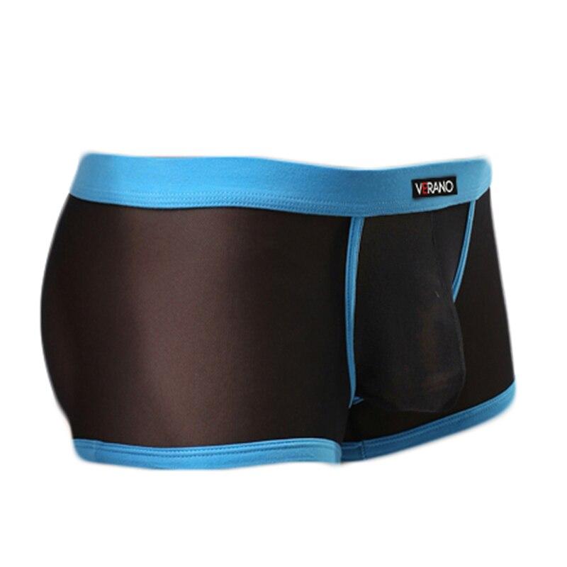 Casual Mesh Men Boxer Ultra-thin See Though Mens Trunks Sexy Mesh Men Shorts Underwear Tranparent Underwear M31-1